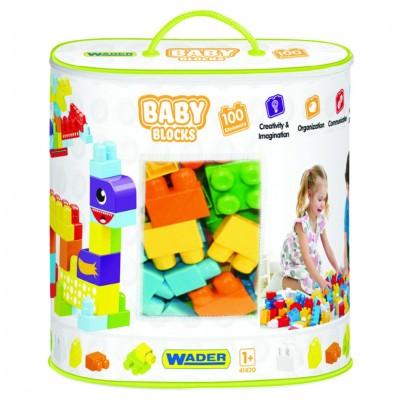 """Конструктор """"Baby Blocks"""" Мои первые кубики - 100 шт Wader"""