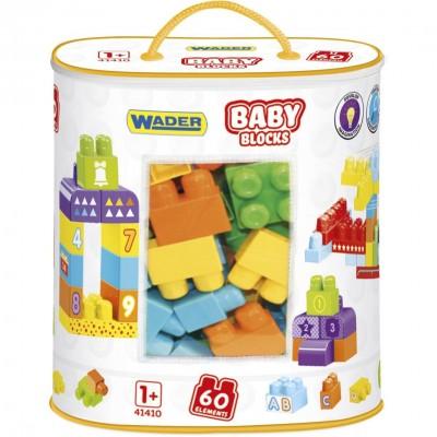 """Конструктор """"Baby Blocks"""" Мои первые кубики - 60 шт Wader"""