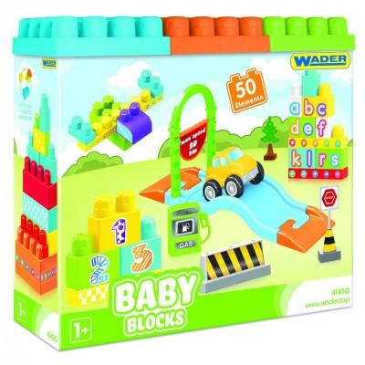 """Конструктор """"Baby Blocks"""" Мои первые кубики - 50 шт Wader"""
