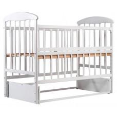 Кровать Наталка ОБМО маятник, откидной бок ольха белая