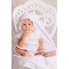 Комплект крестильный для девочки белый