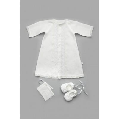 Набор крестильный для мальчика из льна